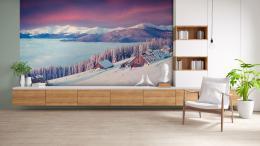InSmile ® Tapeta Horská zimní krajina Vel. (šíøka x výška)  144 x 105 cm - zvìtšit obrázek