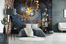 InSmile ® Tapeta Abstrakt zlaté obrazce Vel. (šíøka x výška)  144 x 105 cm - zvìtšit obrázek