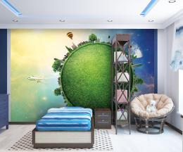 Malvis Tapeta Abstrakt zelená planeta Vel. (šíøka x výška)  144 x 105 cm