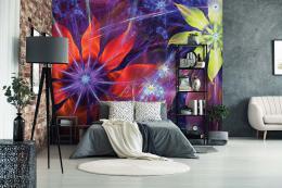 InSmile ® Tapeta abstraktní kvìty Vel. (šíøka x výška)  144 x 105 cm - zvìtšit obrázek