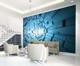 InSmile ® Tapeta Abstrakt tunel modrý Vel. (šíøka x výška)  144 x 105 cm - zvìtšit obrázek