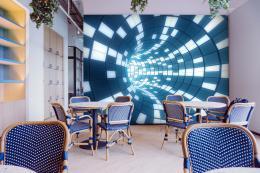 InSmile ® Tapeta Abstrakt svìtelný tunel Vel. (šíøka x výška)  144 x 105 cm