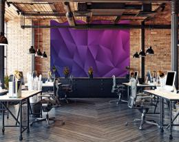 InSmile ® Tapeta 3D fialové trojúhelníky Vel. (šíøka x výška)  144 x 105 cm