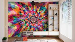 InSmile ® Tapeta Abstrakt barevná hvìzda Vel. (šíøka x výška)  144 x 105 cm - zvìtšit obrázek