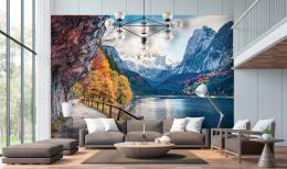 InSmile ® Tapeta Alpské jezero Gosausee Vel. (šíøka x výška)  144 x 105 cm - zvìtšit obrázek