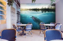 InSmile ® Tapeta Pstruh pod vodou Vel. (šíøka x výška)  144 x 105 cm