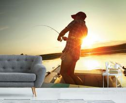 InSmile ® Tapeta Rybáø na lodi Vel. (šíøka x výška)  144 x 105 cm - zvìtšit obrázek