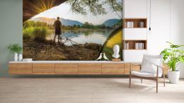 InSmile ® Tapeta Východ slunce a rybáø Vel. (šíøka x výška)  144 x 105 cm