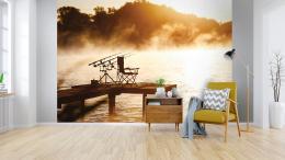 InSmile ® Tapeta rybaøení ranní mlha Vel. (šíøka x výška)  144 x 105 cm - zvìtšit obrázek