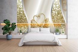 InSmile ® Tapeta Zlaté labutì Vel. (šíøka x výška)  144 x 105 cm - zvìtšit obrázek