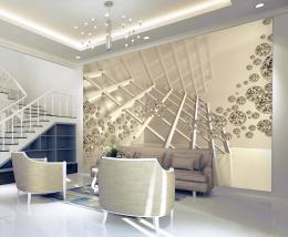 InSmile ® Tapeta 3D zlatá abstrakce Vel. (šíøka x výška)  144 x 105 cm