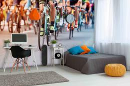 InSmile ® Tapeta Cyklistický závod Vel. (šíøka x výška)  144 x 105 cm