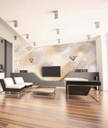 InSmile ® Tapeta krémová 3D abstrakce Vel. (šíøka x výška)  144 x 105 cm