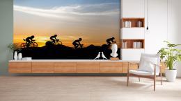 InSmile ® Tapeta Siluety cyklistù Vel. (šíøka x výška)  144 x 105 cm