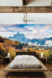 InSmile ® Tapeta Podzimní Dolomity Alpy Vel. (šíøka x výška)  144 x 105 cm