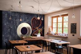 InSmile ® Tapeta Šálek kávy a srdce Vel. (šíøka x výška)  144 x 105 cm - zvìtšit obrázek