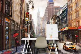 InSmile ® Tapeta Ulice NY malba Vel. (šíøka x výška)  144 x 105 cm - zvìtšit obrázek