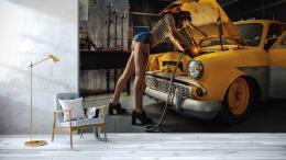 InSmile ® Tapeta Autoservis Vel. (šíøka x výška)  144 x 105 cm - zvìtšit obrázek