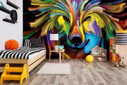 InSmile ® Tapeta Barevný pes Vel. (šíøka x výška)  144 x 105 cm