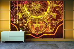 InSmile ® Tapeta Ohnivá mandala Vel. (šíøka x výška)  144 x 105 cm