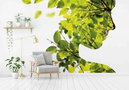 InSmile ® Tapeta Silueta z listí Vel. (šíøka x výška)  144 x 105 cm - zvìtšit obrázek