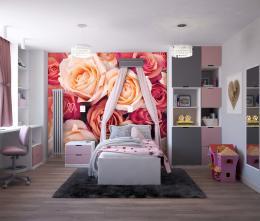 InSmile ® Tapeta Rùže Vel. (šíøka x výška)  144 x 105 cm - zvìtšit obrázek
