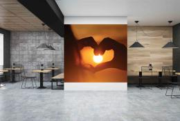 InSmile ® Tapeta Srdce pøi západu Vel. (šíøka x výška)  144 x 105 cm - zvìtšit obrázek