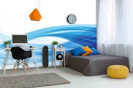 InSmile ® Tapeta Vlna v modré Vel. (šíøka x výška)  144 x 105 cm - zvìtšit obrázek