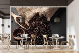 InSmile ® Tapeta Zrna kávy Vel. (šíøka x výška)  144 x 105 cm - zvìtšit obrázek