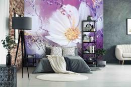 InSmile ® Tapeta Bílý kvìt Vel. (šíøka x výška)  144 x 105 cm