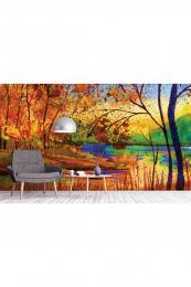 InSmile ® Tapeta Podzimní malba Vel. (šíøka x výška)  144 x 105 cm