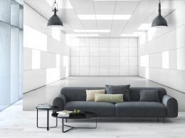 InSmile ® Tapeta 3D bílá místnost Vel. (šíøka x výška)  144 x 105 cm
