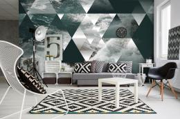 InSmile ® Tapeta 3D trojuhelníky a voda Vel. (šíøka x výška)  144 x 105 cm