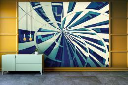 InSmile ® Tapeta Abstraktní fasádní linie Vel. (šíøka x výška)  144 x 105 cm