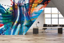 InSmile ® Tapeta Malba abstraktní Vel. (šíøka x výška)  144 x 105 cm