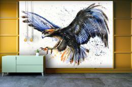 InSmile ® Tapeta Akvarel dravec Vel. (šíøka x výška)  144 x 105 cm