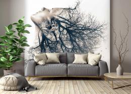 InSmile ® Tapeta Dvojexpozice žena strom Vel. (šíøka x výška)  144 x 105 cm