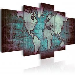 Murando DeLuxe Vícedílný obraz - mapa