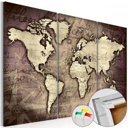 Murando DeLuxe Mapa na korkové tabuli - zlaté cesty
