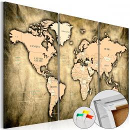 Murando DeLuxe Mapa na korkové tabuli - výrazné kontinenty