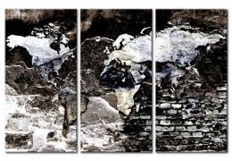 Murando DeLuxe Mapa na korkové tabuli - tmavé cesty Velikost  90x60 cm
