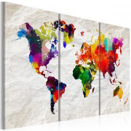 Murando DeLuxe Vícedílný obraz - barevná mapka