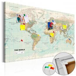 Murando DeLuxe Mapa na korkové tabuli - pìkný svìt