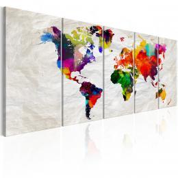 Murando DeLuxe Vícedílný obraz - zmaèkaný svìt Velikost  150x60 cm