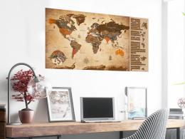 Murando DeLuxe Stírací mapa svìta vintage