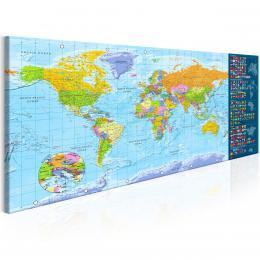 Murando DeLuxe Tradièní mapa svìta Velikost  120x60 cm