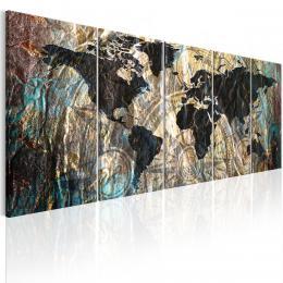 Murando DeLuxe Vícedílný obraz - kontinenty