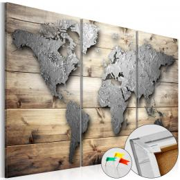Murando DeLuxe Mapa na korkové tabuli - prkna do svìta