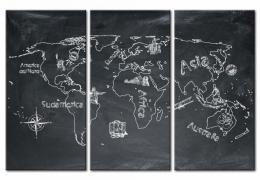 Murando DeLuxe Mapa na korkové tabuli - zemìpisná mapa