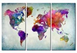 Murando DeLuxe Mapa na korkové tabuli - svìt v barvách